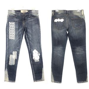 Free People Patchwork Lace ADL Collab Jeans